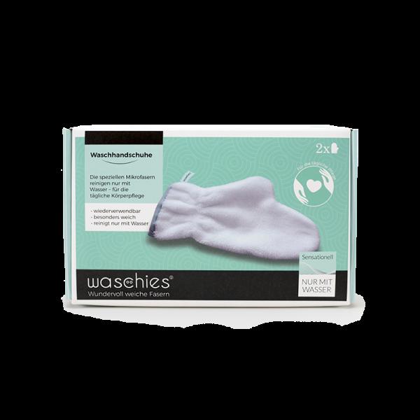 waschies® gloveline Waschhandschuh, 2er Pack