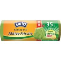 swirl® Aktive Frische Müllbeutel, 35l, 9 Stück